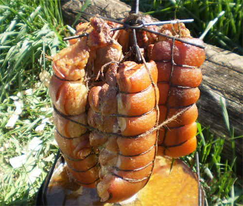 Рецепт грудинки свиной горячего копчения